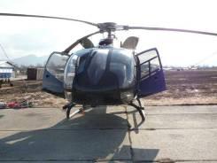 Вертолёт Helicopter Eurocopter Airbus EC130b4 после жёсткой посадки.