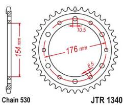 Звезда задняя (ведомая) JTR 1340.43