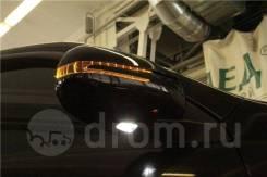 Корпуса зеркал Toyota Land Cruiser Prado J120 стиль Mercedes Черные