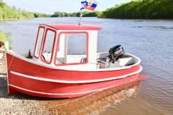 Минибуксир. Самодельная моторная лодка.