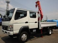 Mitsubishi Fuso Canter. Mitsubishi Canter Мостовой Двухкабинник с КМУ 4WD, 4 900куб. см., 3 000кг., 4x4. Под заказ