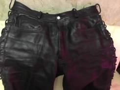 Мото брюки кожаные мужские 52-54 размер