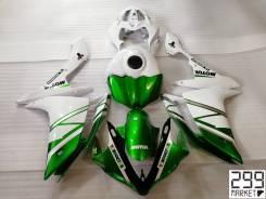 Комплект пластика для мотоцикла YAMAHA R1 07-08 Белый/Зеленый