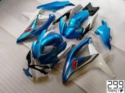 Комплект пластика для мотоцикла SUZUKI GSX-R 1000/750/600 K8-L0 Белый/Голубой