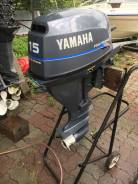 Yamaha 15 4-такта 2001год отличное состояние! S-нога!