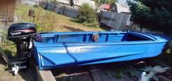 Казанка-М. 2019 год, длина 4,60м., двигатель подвесной, 9,90л.с., бензин