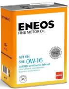 Масло моторное Eneos FINE Motor OIL SN 0W16 4л, Япония