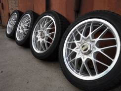 """Rays Volk Racing 4 17""""4/5*100 7.0 +50 зима Yokohama ig20 205/50R17. 7.0x17"""" 4x100.00, 5x100.00 ET50 ЦО 64,0мм."""