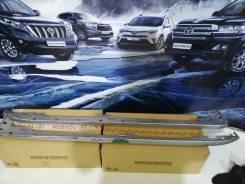 Накладка на порог. Toyota Land Cruiser Prado, GDJ150, GDJ151, GRJ150, GRJ151, KDJ150, TRJ150, GDJ150L, GDJ150W, GDJ151W, GRJ150L, GRJ150W, GRJ151W, KD...
