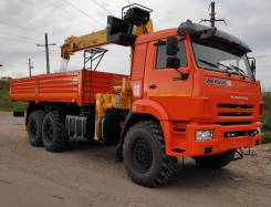 Soosan SCS746L. КМУ Soosan 746L Top (г/п 7600 кг)+ Камаз 43118-3027-50 (6х6), 12 700 кг., 6x6