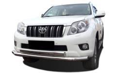 Защита переднего бампера Toyota Land Cruiser Prado 150 (ХРОМ)