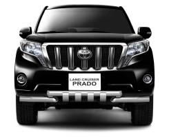 Защита переднего бампера Toyota Land Cruiser Prado 150 (Нержавейка)