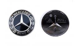 Эмблема на капот для Mercedes-Benz черная