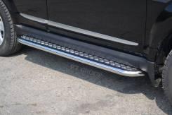 Пороги с алюминиевой площадкой Great Wall Hover H3 2014