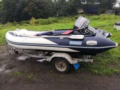 Срочно продам лодку с телегой и мотором.