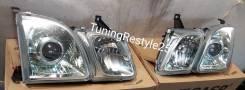 Фары стеклянные R+L под штатный ксенон для Lexus LX470