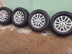 """Диски + шины 265/65/17 жирные шины 5 штук Prado/Pajero/Hilux/Surf. 7.5x17"""" 6x139.70 ET25 ЦО 106,0мм."""