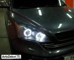 Реснички (накладки) на фары Honda CR-V 3 (Хонда СРВ) 2007-2012г