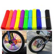Накладки (трубки) на спицы колеса мотоцикла универсальные, 24 см