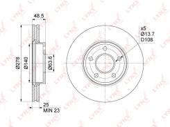 Диск тормозной LYNXauto /BN-1024/ 1734696 FORD FOCUS 03-, C-MAX, VOLVO C30/S40