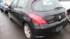 Дверь левая зад, чёрный(Perla Nera), Peugeot 308 2007-11г