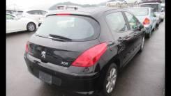 Дверь правая зад, чёрный(Perla Nera), Peugeot 308 2007-11г
