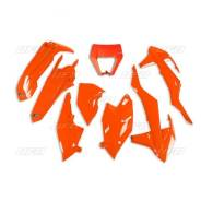 Пластик комплект UFO KTM ENDURO EXC - EXC-F 17-19, ярко-оранжевый, KTKIT523#FFLU