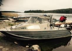 Алюминиевый Катер (лодка) Wellboat 63 + Honda 130
