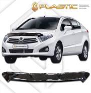 Дефлектор капота Classic черный Brilliance H230 хэтчбэк 2015–н. в. (изготовление) Plastics 1082
