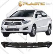 Дефлектор капота Classic черный Brilliance H230 седан 2015–н. в. (изготовление) Plastics 1118