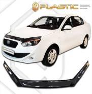 Дефлектор капота Classic черный FAW Oley 2014–н. в. (изготовление) Plastics 1191