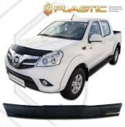 Дефлектор капота Classic черный Foton Tunland 2012–н. в. Double Cab (изготовление) Plastics 1211