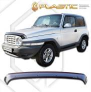 Дефлектор капота Classic черный ТагАЗ Тагер 3 Door 2008-2014 (изготовление) Plastics 1341