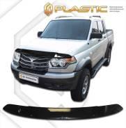 Дефлектор капота Classic черный УАЗ Патриот Пикап 2014–н. в. (изготовление) Plastics 1052