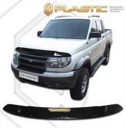 Дефлектор капота Classic черный УАЗ Патриот Пикап 2009–2014 (изготовление) Plastics 1050