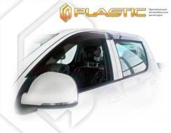 Ветровики дверей Classic полупрозрачный Foton Tunland 2012–н. в. Double Cab (изготовление) Plastics 1211