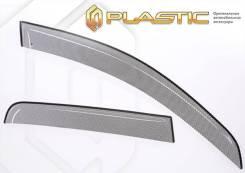 Ветровики дверей Шелкография черная УАЗ Патриот Пикап 2009–2014 (изготовление) Plastics 1050