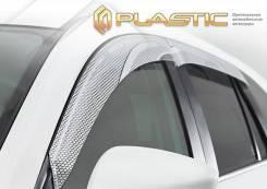 """Ветровики дверей Серия """"Art"""" серебро ВАЗ Lada Niva Travel 2020-н. в. (изготовление) Plastics 1590"""