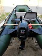 Продам лодку с мотором Сузуки 20л. с 4 такта и телегой,180 т. р
