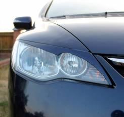 Реснички (накладки) фигурные на фары Honda Civic 4D (Хонда Цивик 4Д)