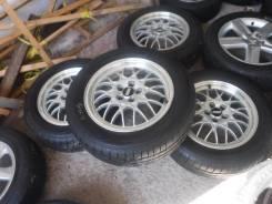 """(Комплект 3404) Диски 16"""" BBS 5-100+Bridgestone Ecopia 215/60 R16. 6.5x16"""" 5x100.00 ET55 ЦО 56,1мм."""
