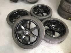 """Enkei PF-07 Japan Mat R18 5*100 7j et48 + 225/55R18 Dunlop Winter Maxx. 7.0x18"""" 5x100.00 ET48"""