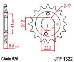 Звезда передняя (ведущая) JTF1322.13