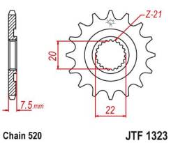 Звезда передняя (ведущая) JTF1323.14SC