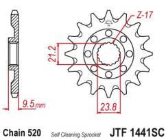 Звезда передняя (ведущая) JTF1441.13SC