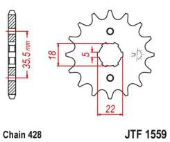 Звезда передняя (ведущая) JTF1559.14