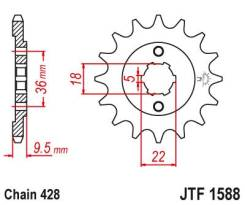 Звезда передняя (ведущая) JTF1588.19