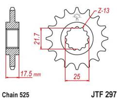 Звезда ведущая (передняя) JTF297.15