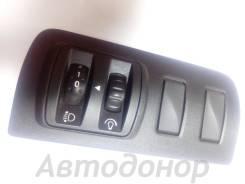 Кнопка регулировки фар и подсветки с рамкой 251635435r Renault