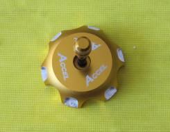 Крышка бензобака Accel CR/CRF/XR/KX/KLX/RM/RMZ желтый (Taiwan) GTC-06
